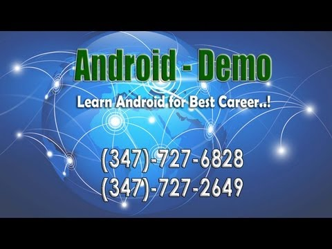 Android Online Training Demo Full Session - HD Tutorials