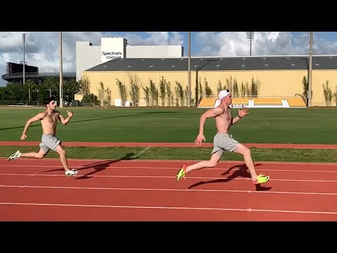 Timing My 100m And Sprinting With John Evans!!