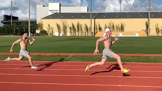 Timing My 100m And Sprinting With John Evans!! Video