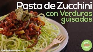 Pasta De Zucchini Con Guisado De Tomate! - Fácil, Vegano Y Saludable ♥