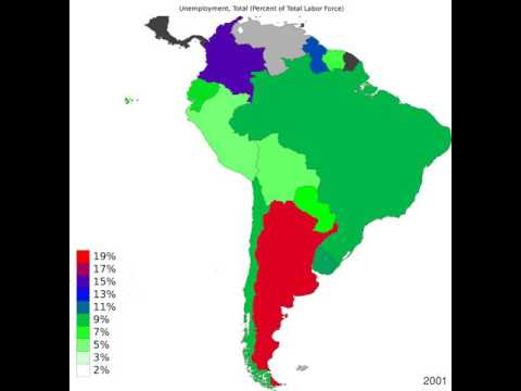 South America - Unemployment, Total - Timelapse