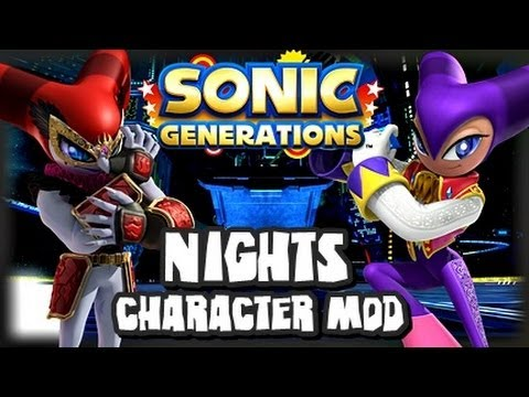 Sonic Generations PC - NiGHTS Character Mod w/Reala Rival Fight