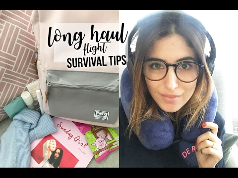 11 HOURS ON A PLANE! (long haul flight tips) | Lily Pebbles