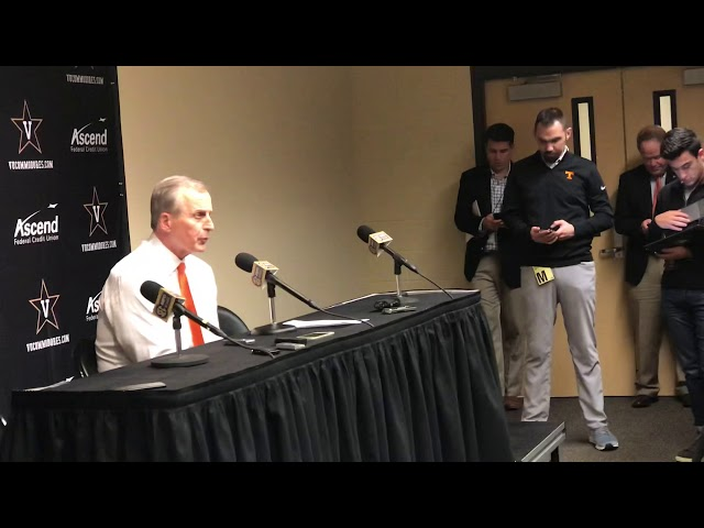 Tennessee Vols Basketball Coach Rick Barnes Postgame Interview — 1/23/19