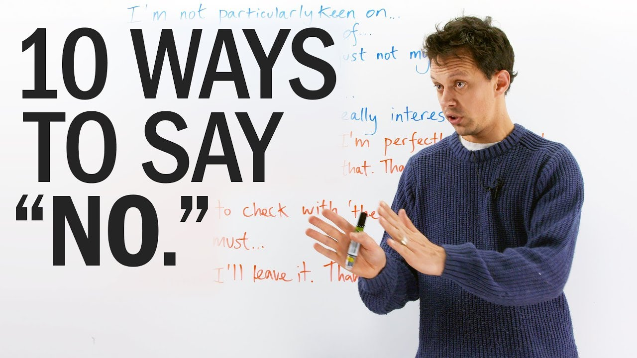 10 ways to say  NO  in English (politely!) - YouTube b79c5b6bd