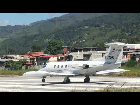 Learjet 25 YV3191  despegando de Merida Venezuela