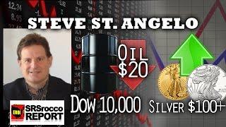 $20 Oil, $100 Silver & 10,000 Dow Jones - Steve St. Angelo of SRSRoccoReport.com Interview