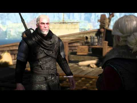 The Witcher 3 - Yennefer's & Ciri's comment on Geralt's new scar: That's what Yennefer and Ciri have to say about Geralt's new scar from Hearts of Stone, as you can see I tried to talk with Triss, but it seems she doesn't want to :)  Bear Armor mod: http://www.nexusmods.com/witcher3/mods/413/?   If you want to talk about Yennefer of Vengerberg more in detail or just get more information, come to the official forums: http://forums.cdprojektred.com/threads/58120-Yennefer-of-Vengerberg-(all-spoilers)-The-Revival  On the forums I also try to explain why Yennefer behaves like she does in certain situations, these videos here are the source material for that: http://forums.cdprojektred.com/threads/57749-Explaining-Yennefer-s-behaviour-in-the-game-(with-a-canon-Geralt-as-partner)