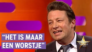 Jamie Oliver krijgt DOODSBEDREIGINGEN om een CHORIZO WORST - The Graham Norton Show