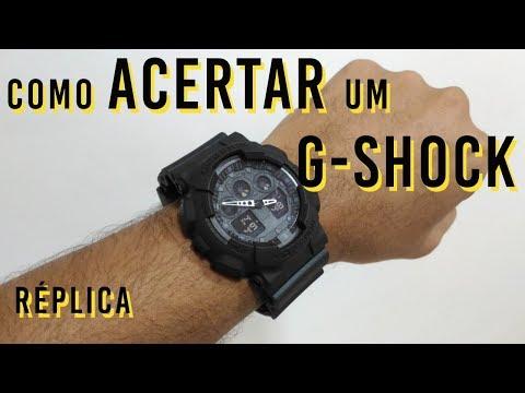 Como Acertar Horas de um G Shock Réplica GA-100/110
