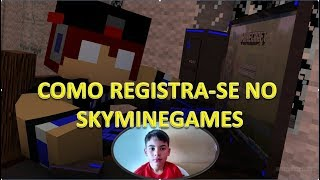 MINECRAFT:COMO SE REGISTRAR NO SKYMINIGAMES
