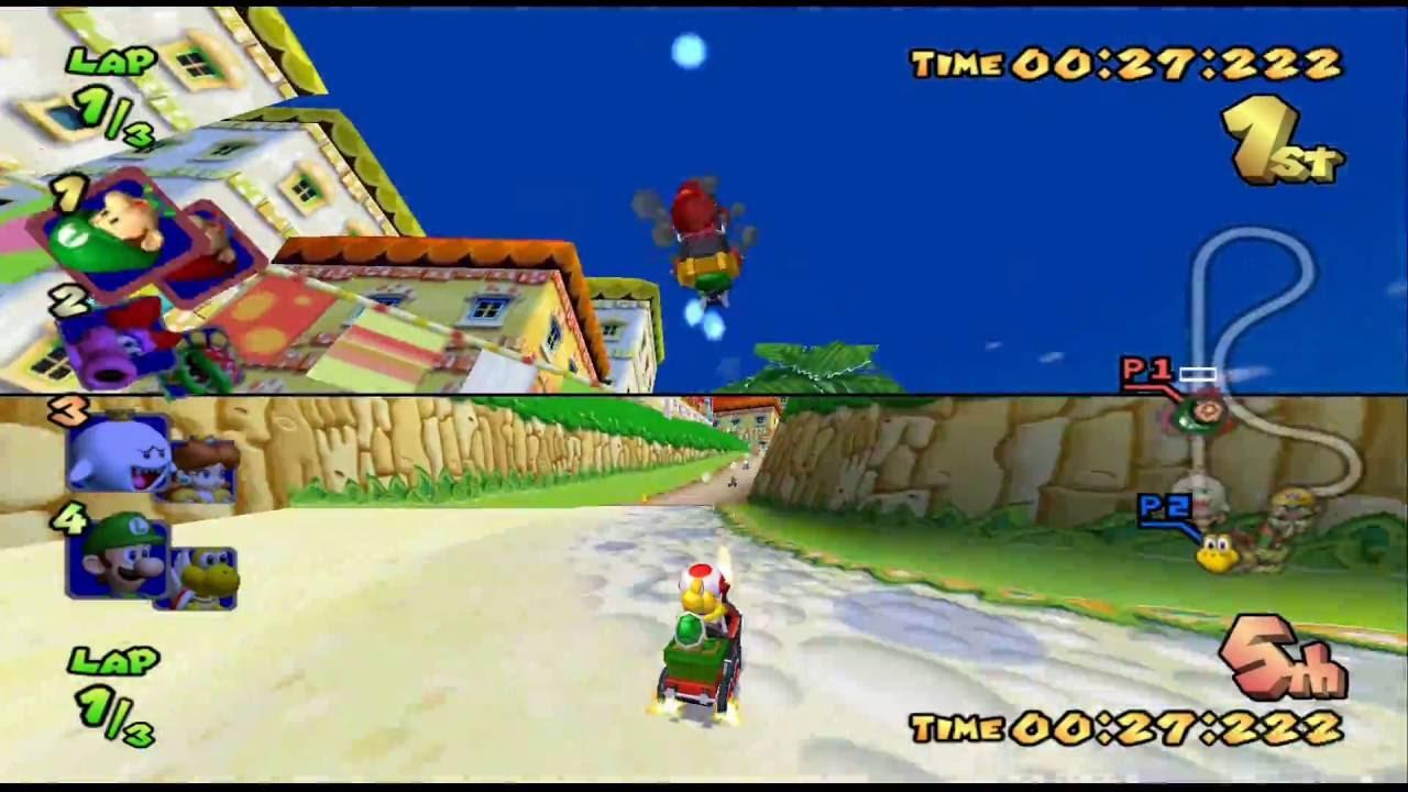 Mario Kart Double Dash Mushroom Cup 150cc 2 Player Netplay 60fps
