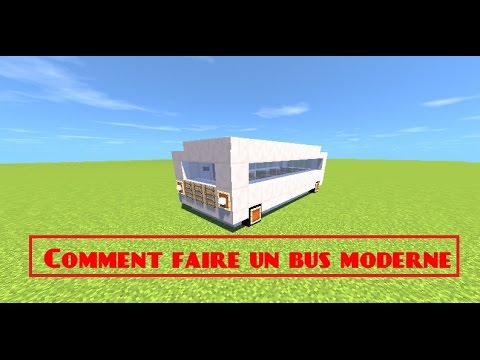 Minecraft comment faire un bus moderne youtube - Comment faire un chalet dans minecraft ...
