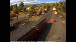9/16/2018 Eight car train 215 arrives in Chama, NM