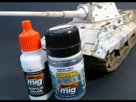 Winter Camo with chipping fluid and washable white camo part 1