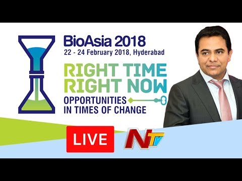 Bio Asia - 2018 International Conference LIVE || KTR || HICC || Day 2 || NTV