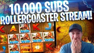 WE HIT 10K SUBS & WENT BIG!! ROLLERCOASTER SLOTS SESSION!