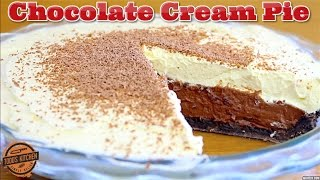 No bake CHOCOLATE CREAM PIE - How to make recipe