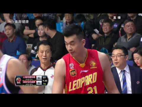 CBA Playoff Game 3 Shanghai Sharks VS Shenzhen 3/1