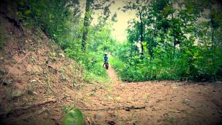3 year old Kid mountain biking with his Dad (Strider bikes are awesome!)