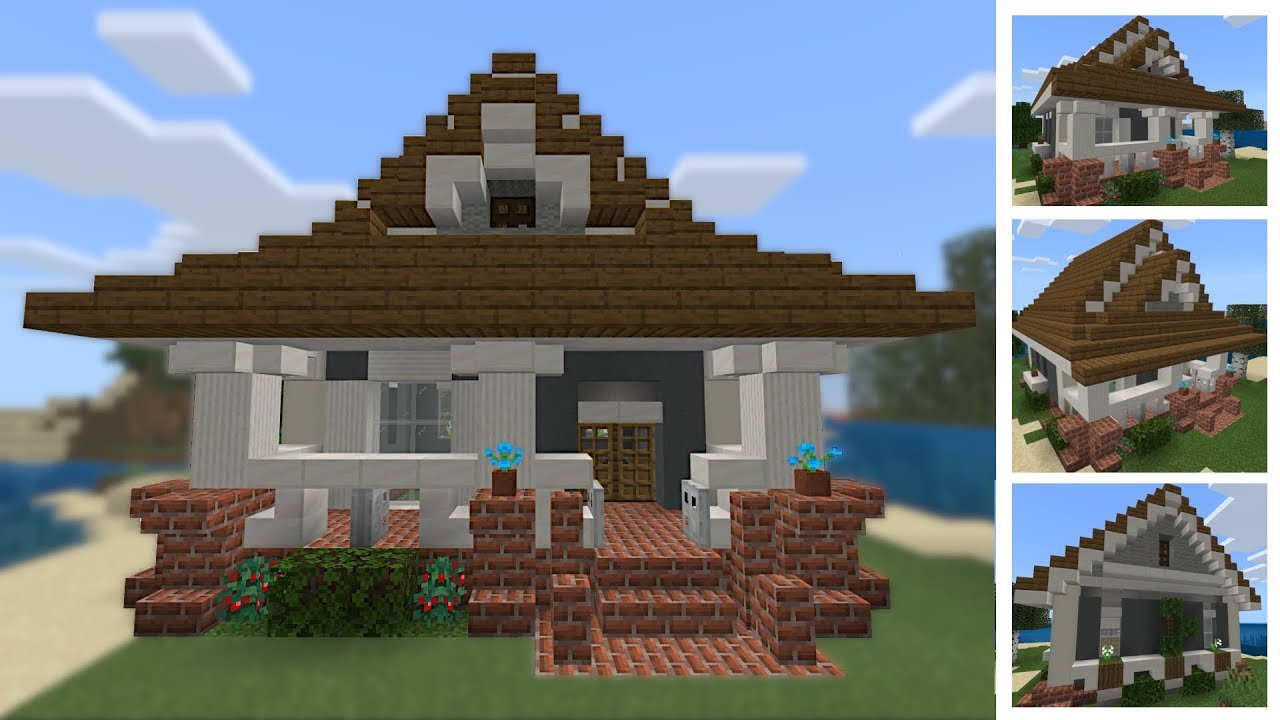 Minecraft Building Tutorial How To - Simple Bungalow - YouTube