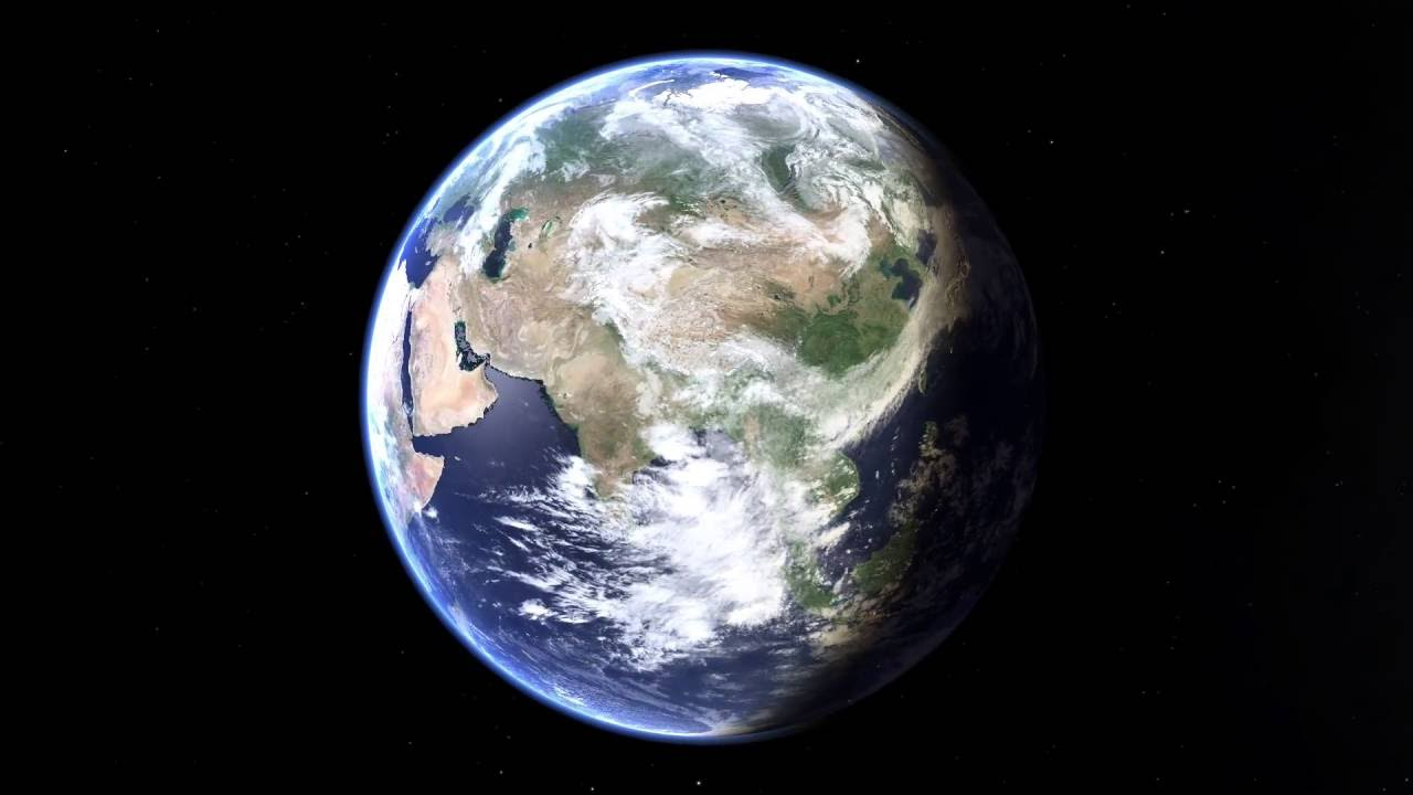 Rotating Earth Animation Stitched From Live Weather Satellite - World satellite images live