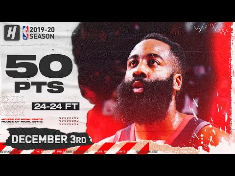 James Harden 50 Pts Full Highlights | Rockets vs Spurs | December 3, 2019
