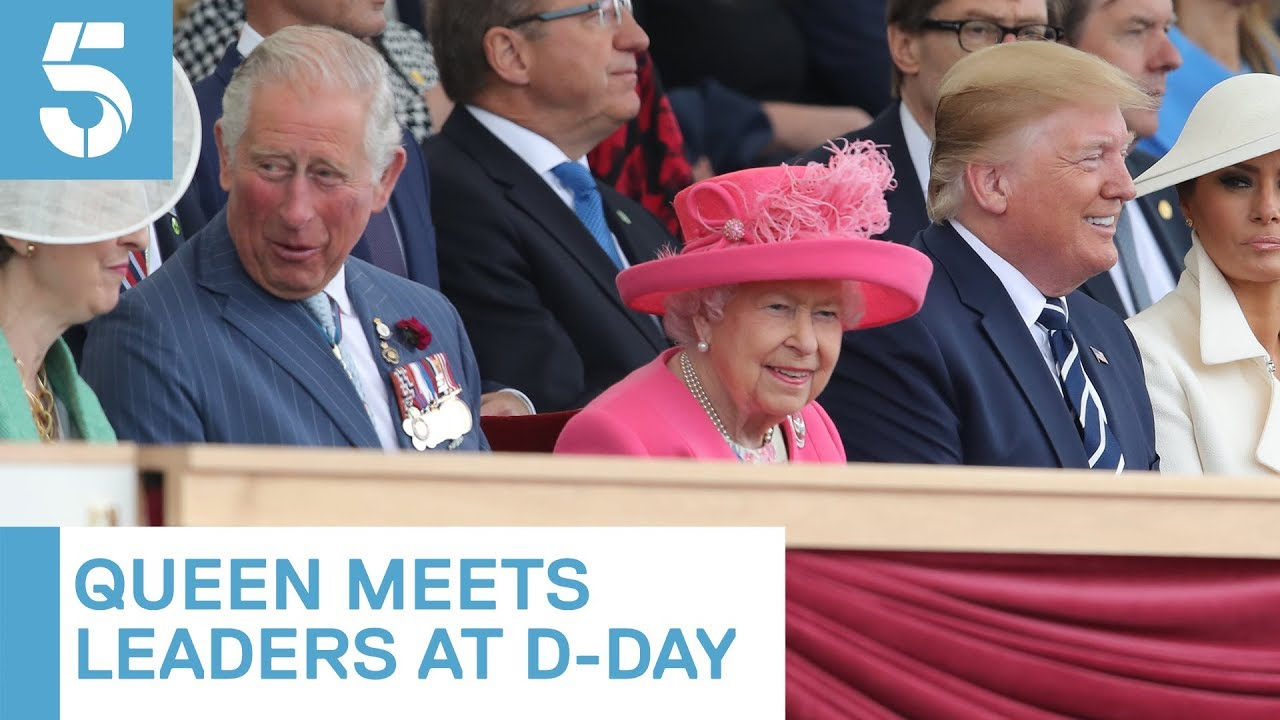 Queen greets Donald Trump and other world leaders at D-Day event | 5 News