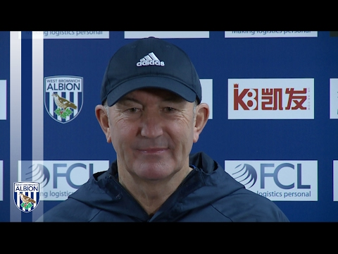 Tony Pulis addresses the media ahead of Albion's fixture with West Ham