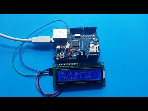 Arduino Ethernet + LCD To Display IP Address