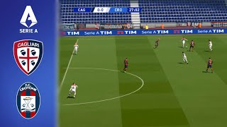 This is a video realistic gameplay of pro evolution soccer (pes 2017) italy serie tim season 2020/2021.cagliari vs crotone (com com) | highlights a...