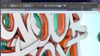 Cinema 4D. Урок №12. Создание эффектного 3D логотипа. (Иван Безруков)