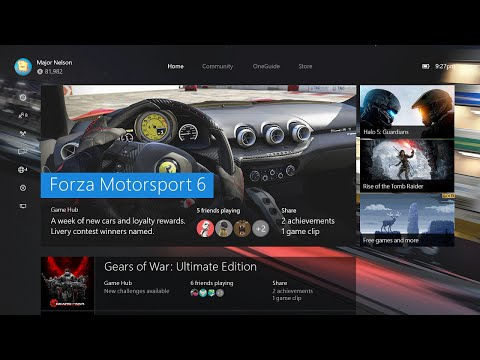 Watch eight minutes of the new Windows 10-powered Xbox One dashboard