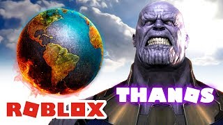 ROBLOX INDONESiA | When THANOS DESCENDED TO Earth 😂