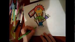 Граффити урок №1(Как нарисовать керека)(Всем привет ребята!Это мой первый граффити урок! на тему:Как научиться рисовать кереков(персонажей) Урок..., 2013-01-26T14:46:52.000Z)