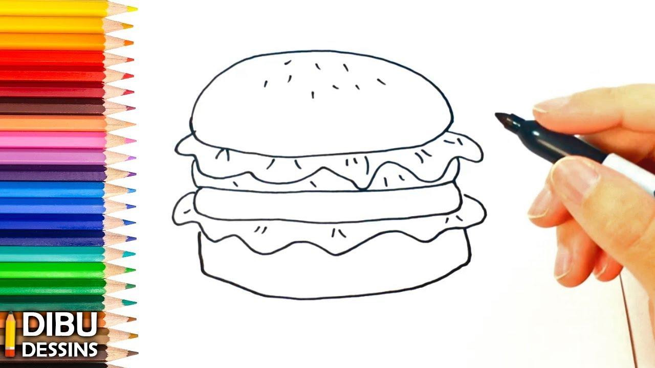 Comment dessiner un hamburger youtube - Dessiner un bus ...