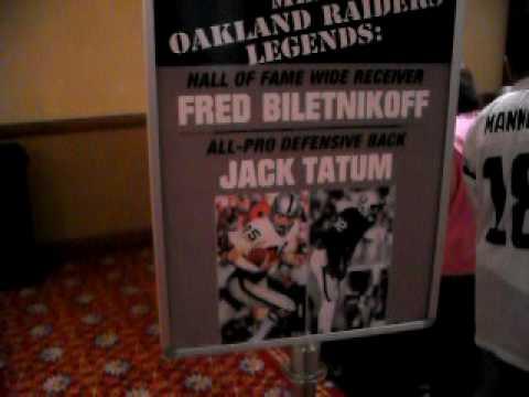 Oaland Raiders Hall of Famer Fred Biletnikoff and Jack Tatum