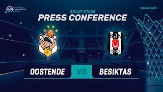 Filou Oostende v Besiktas Sompo Japan - Press Conf. - Basketball Champions League 2018-19