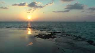 Relaxation - Tranquil sea sunset scene