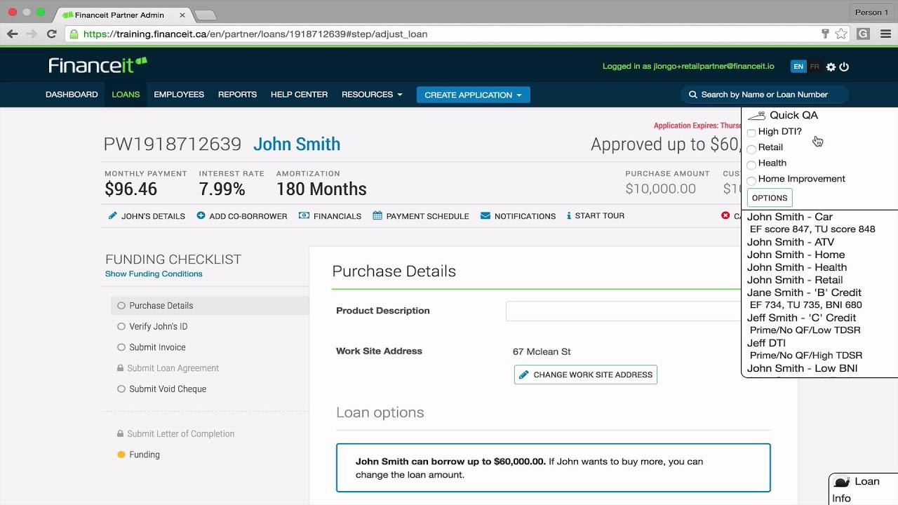 Create a Loan Application - Canada - YouTube