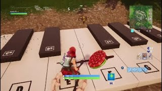 """""""Baby Shark"""" played on the Fortnite piano."""