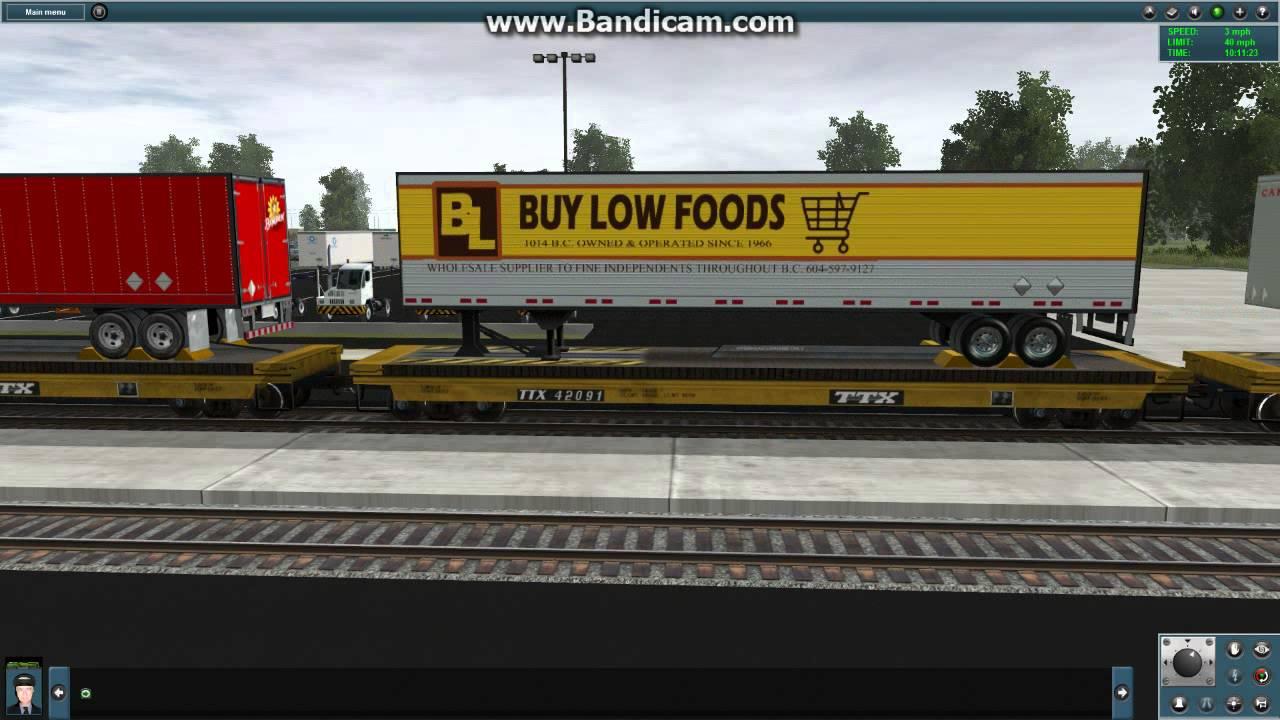 Trainz 12 JR American Intermodal Route 04 Trailer Train Part 1 by  56TrainzFan