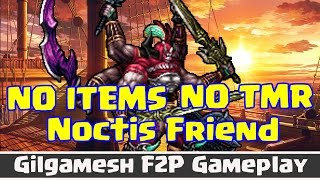 "Final Fantasy Brave Exvius - Gilgamesh ""F2P"" No Items No TMR Gameplay"