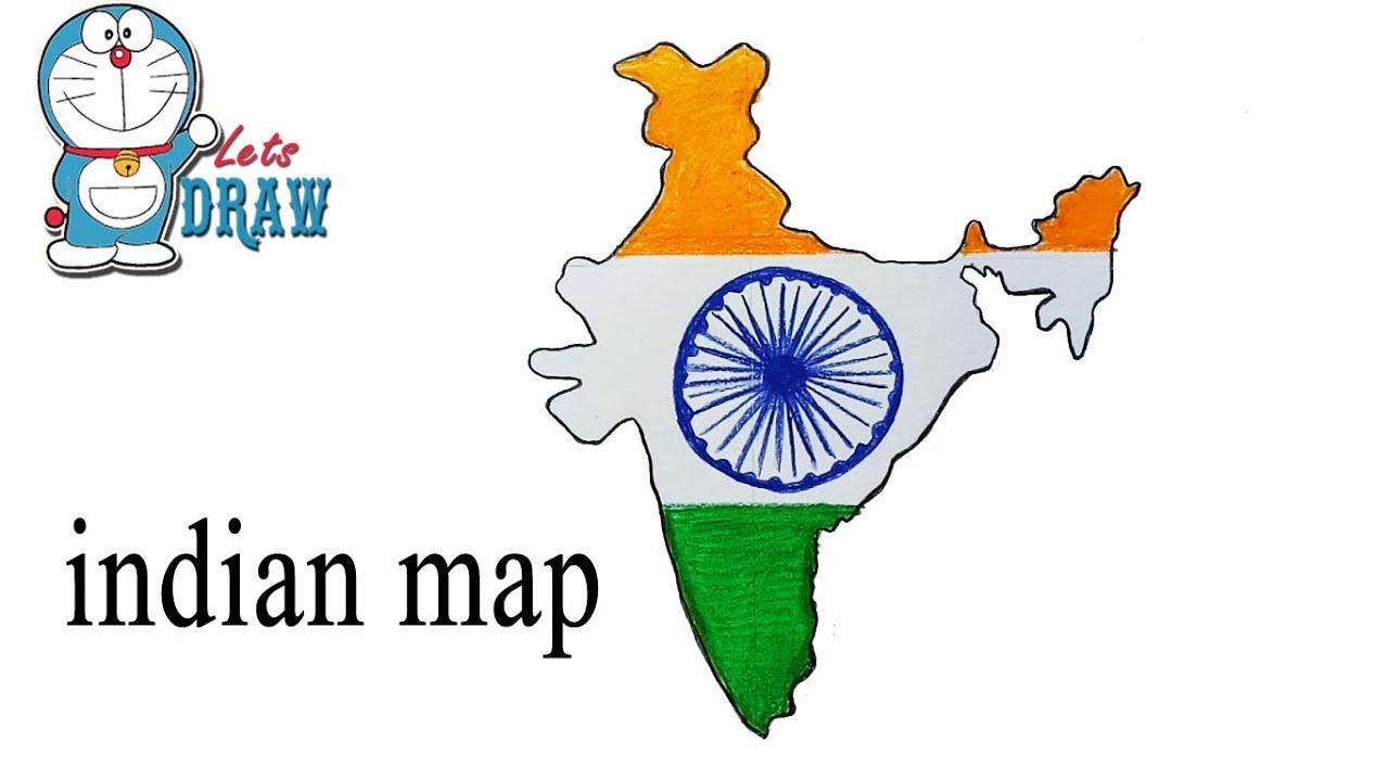 How To Draw Indian Map Step By Step Very Easy Youtube