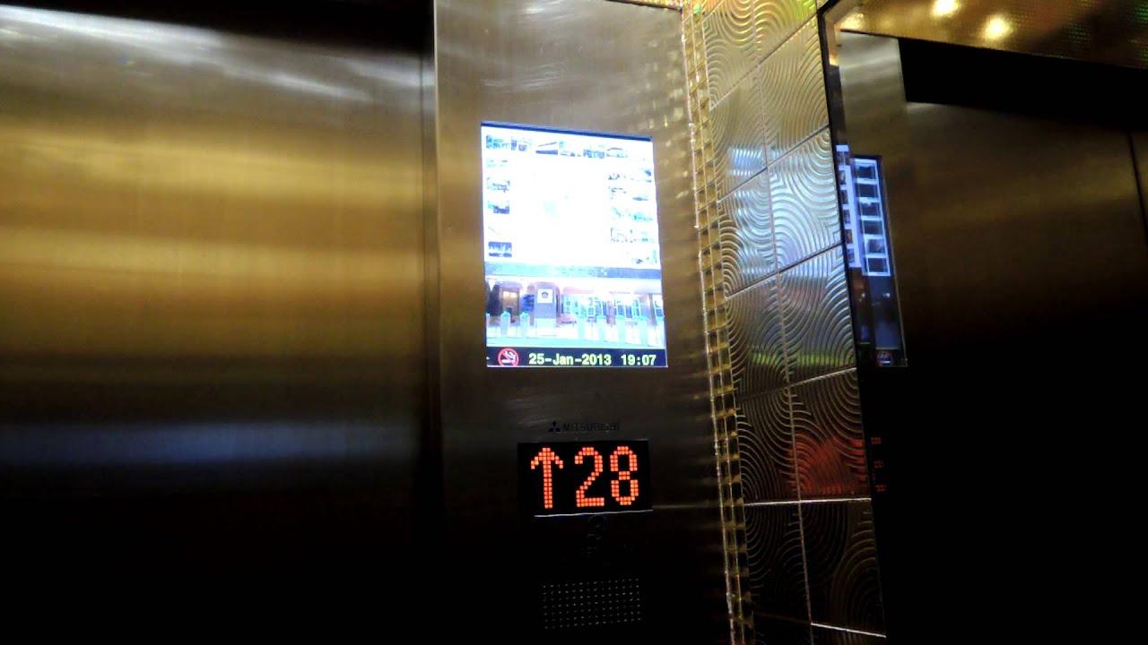 尖沙咀香港華麗酒店三菱高速升降機 - YouTube