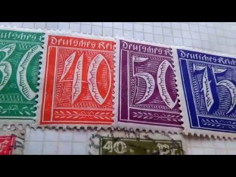 Video Of Old/Rare Germany Stamps