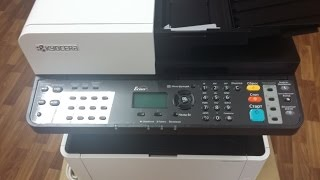 kyocera m2040dn  распаковка  m 2040 dn русификация замена картриджа TK-1170 внешний вид Unpacking