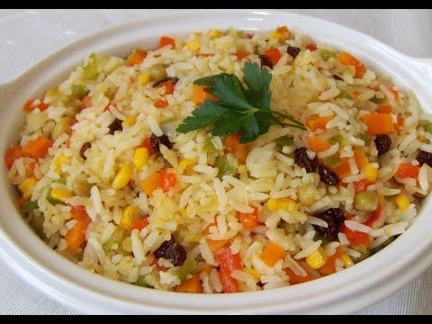 Resultado de imagem para um prato de arroz integral bem temperado