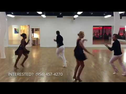 Yamulee Project Oklahoma City Advanced Salsa Team dancing at the 3Sixty Social 2017-11-17