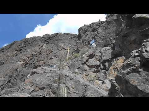 Picacho Peak, Hunter Trail to the Summit, the Climb with Steel Cables